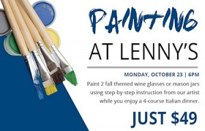 Painting with a 4-course meal at Lenny's